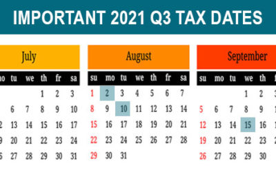 2021 Q3 tax calendar: Key deadlines for businesses and other employers